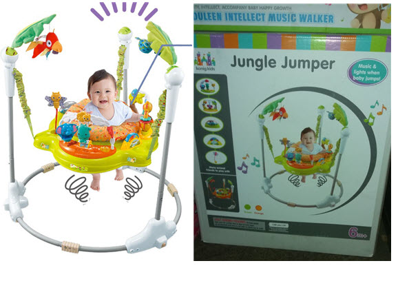 rainforest jungle jumperoo baby jumper walker with music and sound