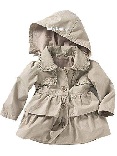 603905453c0e Baby Toddler Girls Fall Winter Trench Coat Wind Hooded Jacket Kids ...