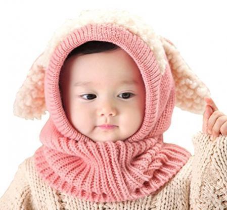 Baby Girls Boys Winter Hat Scarf Earflap Hood Scarves Skull Caps ... 8a836718e92