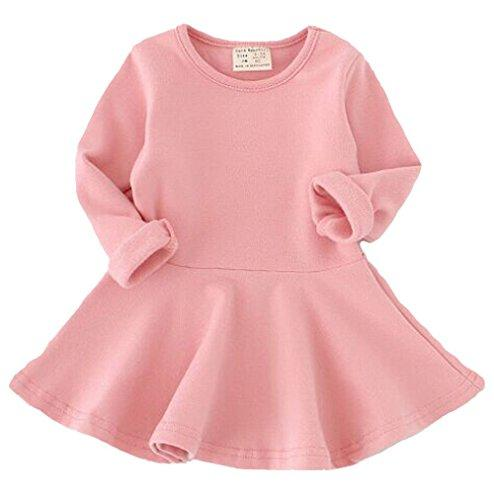 7a843c0691ee3 Fayele Baby Girl s Long Sleeve Cotton One-piece Dress, 2-3 Years ...