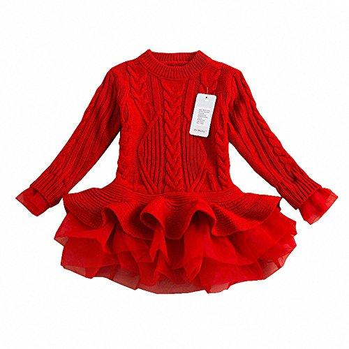e438336d639b Generic Little Girls Spring Sweater Outfits Long Sleeves Tutu ...