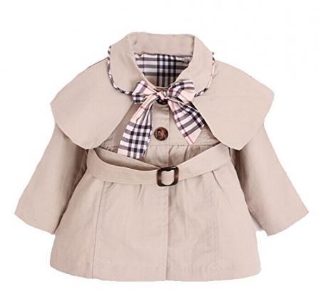Kids Baby Girl Spring Autumn Trench Coat Khaki 0 6 Months