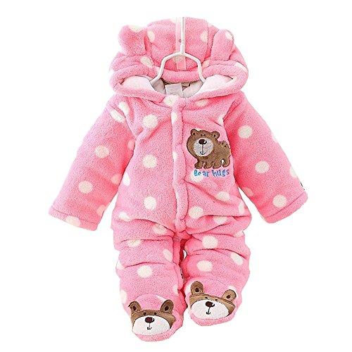 3cb46ad52800 Newborn Rompers Baby Girls Clothes Winter Infant Clothing (0-3 ...