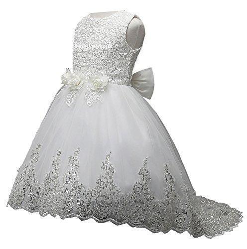 9f26260ffc26 Turbomsun 2-11T Kids Girl Embroidered Flowers wedding Long Dresses ...