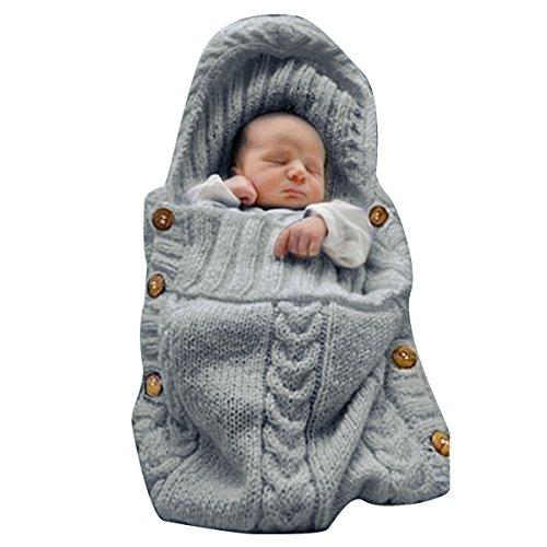 Newborn Baby Wrap Swaddle Blanket Dark Gray 0 6 Month Online