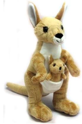 Wishpets Stuffed Animal - Soft Plush Toy for Kids Kangaroo